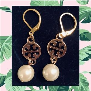 CLASSIC Gold Pearl Tory Burch Earrings.